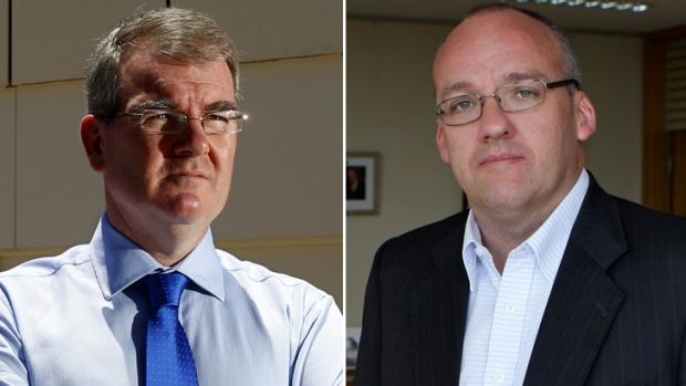 The contenders: Michael Daley and Luke Foley.