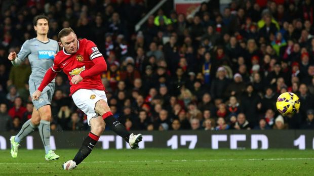 Manchester United captain Wayne Rooney found the net against Newcastle United.