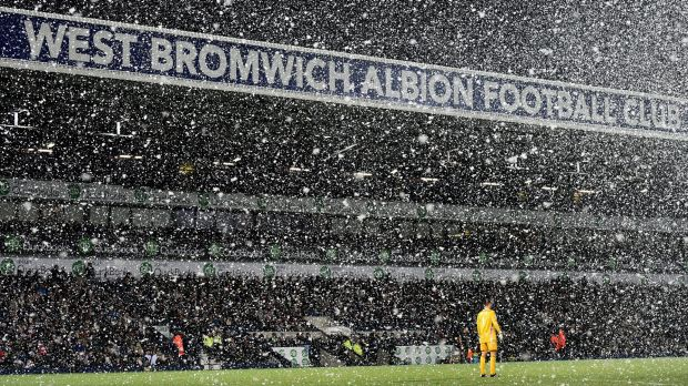 White Christmas: Manchester City stayed within reach of Chelsea with their win against West Bromwich Albion.