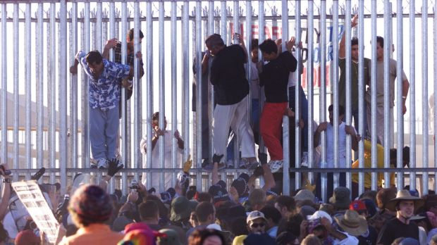 A disturbance at the Woomera Detention Centre.