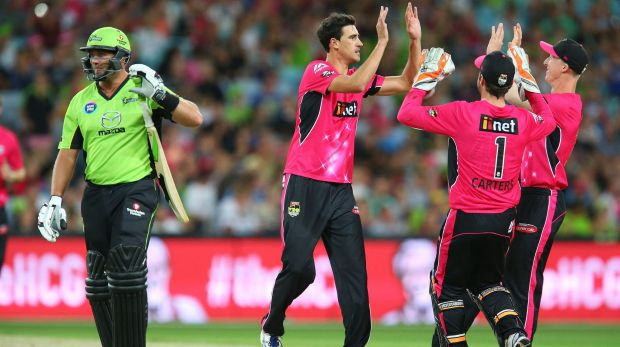 'Pitchsiding' suspected at Saturday's Big Bash League match.