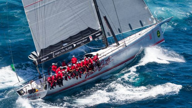 Wild Oats Xl was leading the Sydney to Hobart yacht race about midday.