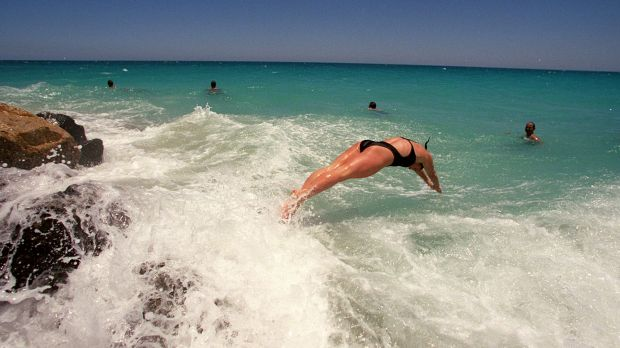 The beach will be a popular place to be in Perth on Saturday with the temperature expected to hit 40 degrees.
