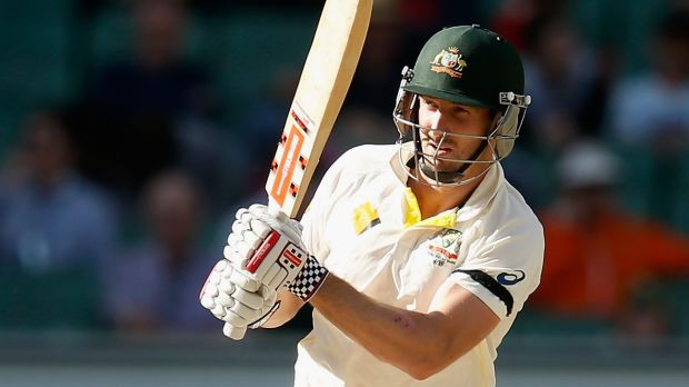 The departures of Joe Burns (9) and Brad Haddin (13) in the last session meant primary responsibility for batting with ...