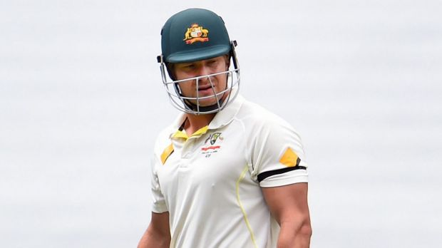 Frustrating: Australia's Shane Watson walks off after he was dismissed by Ishant Sharma.