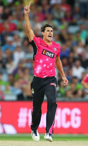 Shining light: Axed Test bowler Mitchell Starc showed his worth for the SIxers.