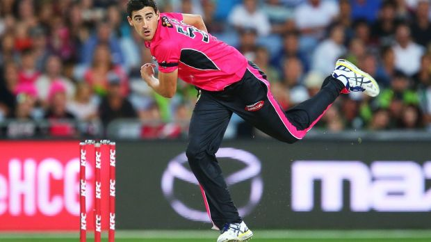 Mitchell Starc has been in fine form for the Sydney Sixers.