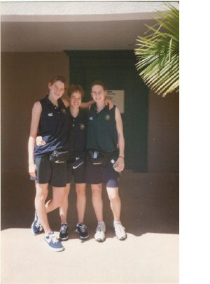 Lauren Jackson, Kristin Veal and Penny Taylor together in 1997.