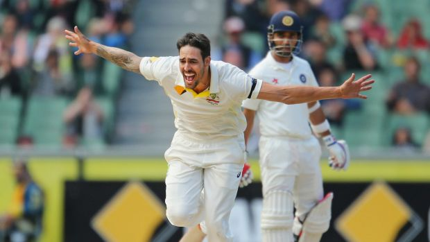 Short and sweet: Mitchell Johnson would like to return to bowling three-over spells.