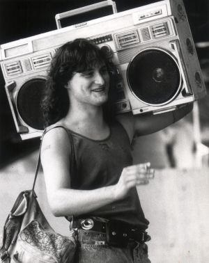 The height of '80s cool: The ghetto blaster.