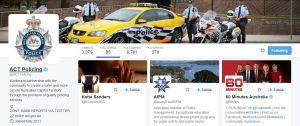 ACT Police's Twitter account retweeted a pornographic image and followed the Twitter account.