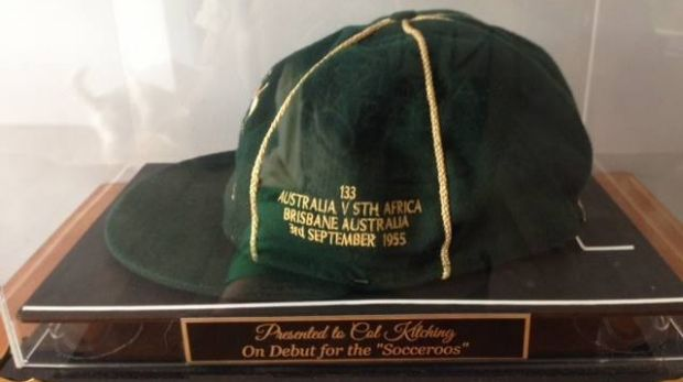 Col Kitching's Socceroos cap was stolen from Bundamba on Monday, December 29.