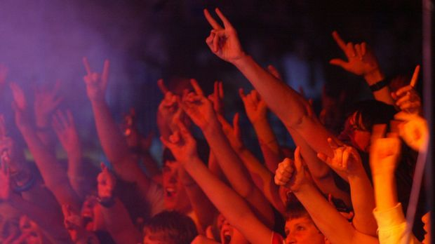 A Brisbane man has died at the Falls Music and Arts Festival in Byron Bay.