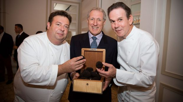 Truffle time: Peter Gilmore, Truffle & Wine Co's Alf Salter and Thomas Keller.
