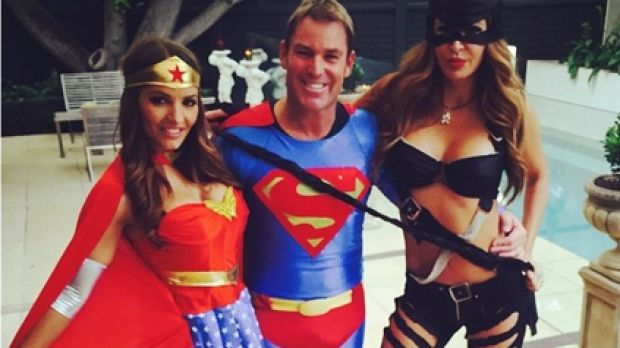 An image posted by Shane Warne on New Year's Eve to his Instagram account, @shanewarne23.