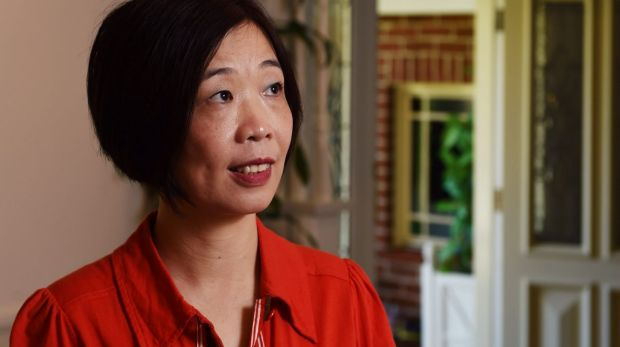 Charlotte Chou in Sydney on Thursday after more than six years in a Chinese jail.