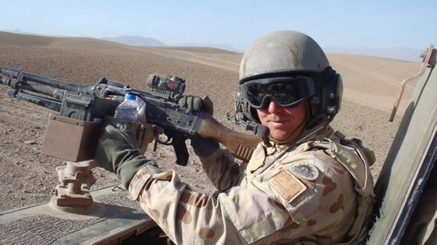 """""""Just an average soldier"""": Corporal Wilkinson in Afghanistan."""