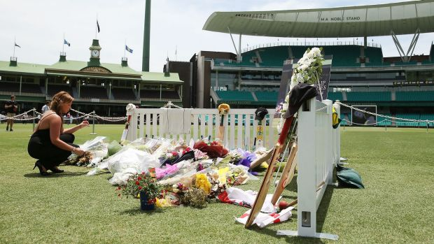 Tributes flowed a the SCG for Phillip Hughes in the wake of his death.