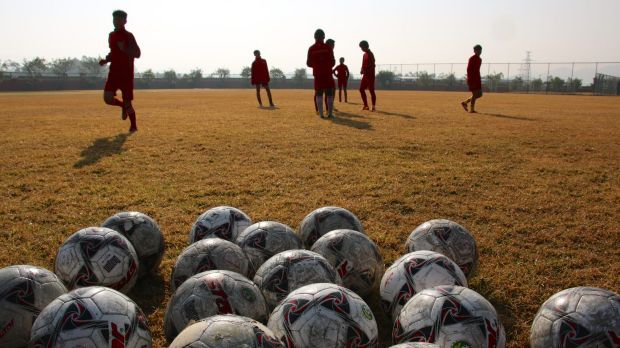 Soccer dreams: Evergrande Football School is an enormous sporting academy in Guangdong, China.