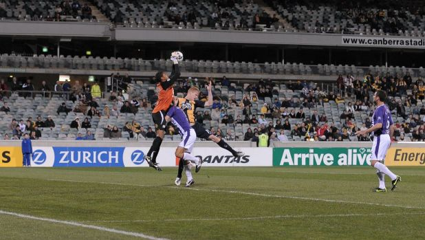 Only 5139 people turned up to watch Perth beat the Mariners 2-1 at Canberra Stadium in the 2009 A-League season.