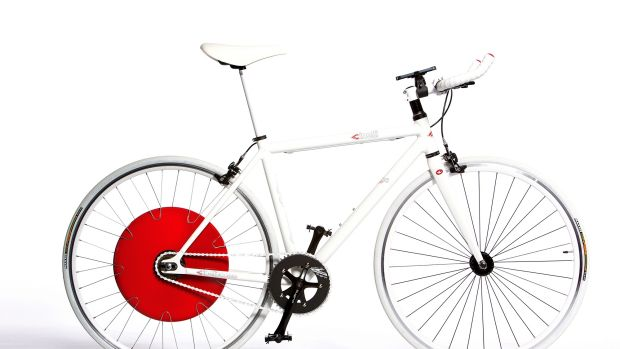 Copenhagen Wheel is a replacement bicycle wheel that features a 350-watt electric motor, 48-volt lithium-ion battery, ...