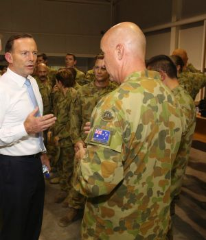"""Tony Abbott was desperate to send soldiers to assist in the """"fight against the death cult""""."""