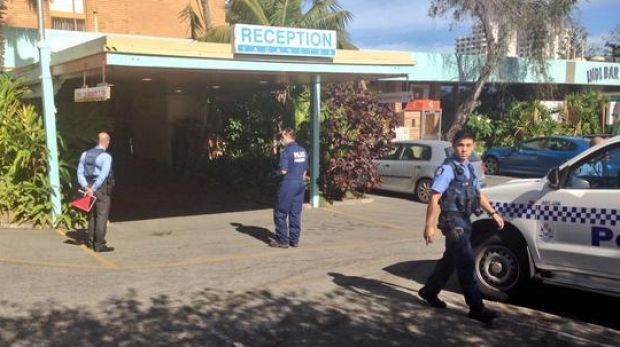 Forensic police at Scarborough's Indian Ocean Hotel after the robbery.