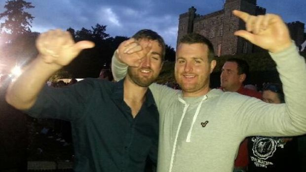Brothers in arms: Patrick and Barry Lyttle.