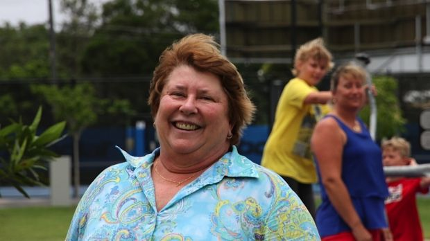 Former Australian tennis champion at Frew Park in the lead-up to the Brisbane International tournament in January 2015.