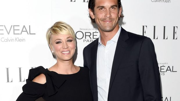 Kaley Cuoco-Sweeting, pictured with her husband Ryan Sweeting, has apologised for her comments in Redbook.