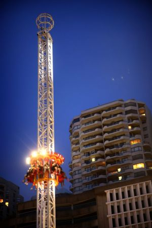 Noise factor: Nearby residents say screaming from the Hair Raiser ride at Luna Park, in Sydney, is disturbing their sleep.