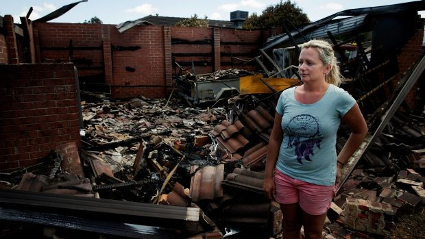 Counting the cost: Jane Derijcke (pictured) and partner Shane Smart were one of the worst affected by the fire in ...