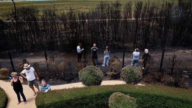 Hastings residents assess the damage.