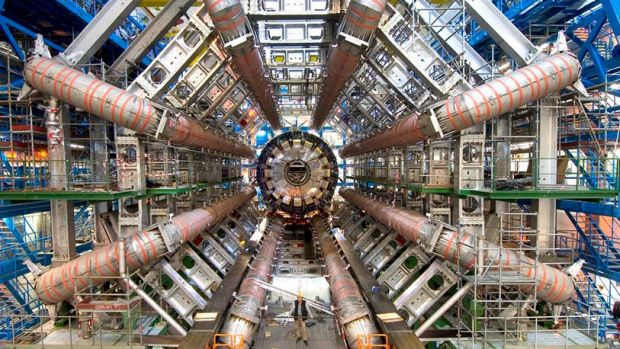 The ATLAS Detector at CERN, on the French-Swiss border.