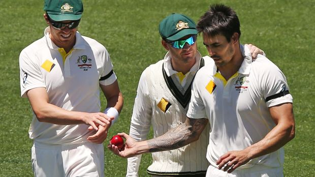 The missing: Michael Clarke (middle) and Mitchell Johnson (right).