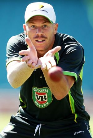 Challenges ahead: David Warner is doing his best to remain focused on the fourth Test.