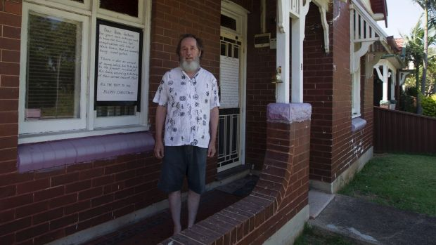 John Higgins, a long time resident of Welfare Street, Homebush, is fighting against plans to evict him.