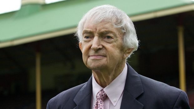 The voice of summer ... Test great Richie Benaud.
