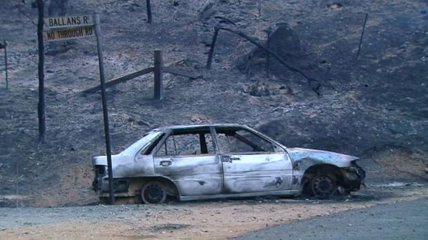 Damage: Dozens of properties were damaged as fire tore through the Adelaide Hills.