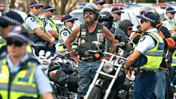 Protest against state bikie laws taken to Parliament House in Canberra.