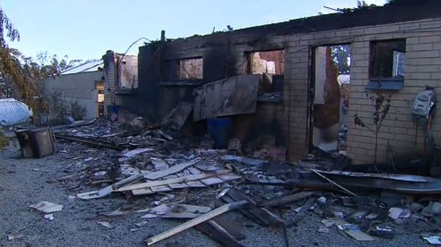 One of the many homes gutted in the South Australian fires.