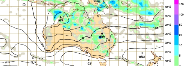 Meteorologists are watching closely the deep low over the Kimberley.