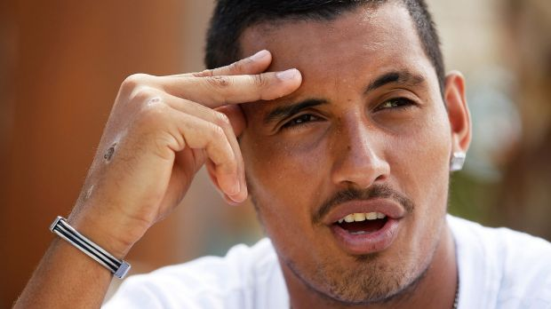 Getting ready to return: Nick Kyrgios.