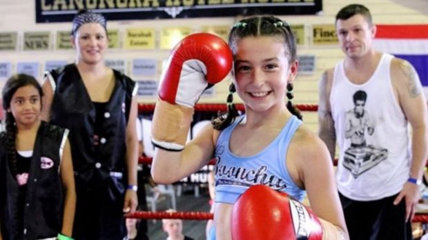 Kickboxer Jasmine Parr, 11, has pedigree on her side when she gets in the ring.
