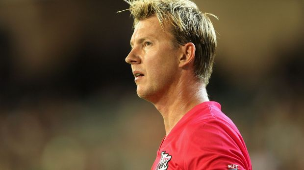 What might have been: Brett Lee's final overs proved expensive for the Sixers.