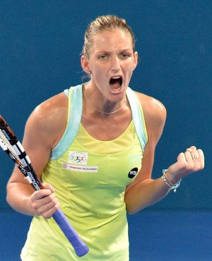 Courage under fire: Karolina Pliskova.