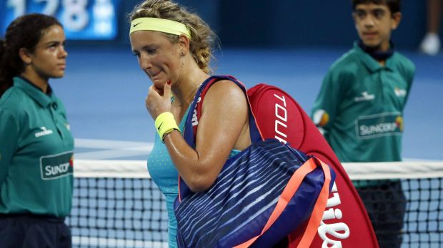 Sent packing: Two-time Australian Open champion Victoria Azarenka.