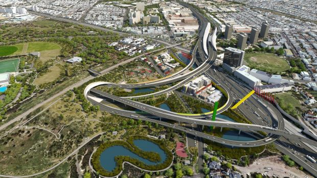 Artist's impression of the East West Link.