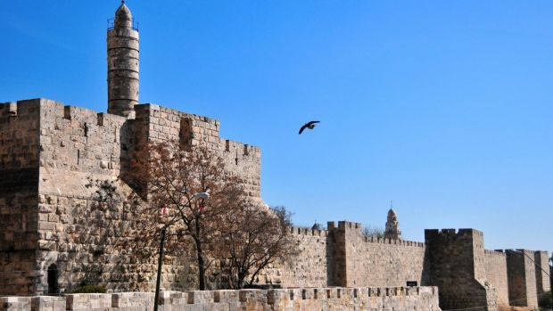 Archaeologists believe Herod's palace was near the Tower of David in Jerusalem's Old City.