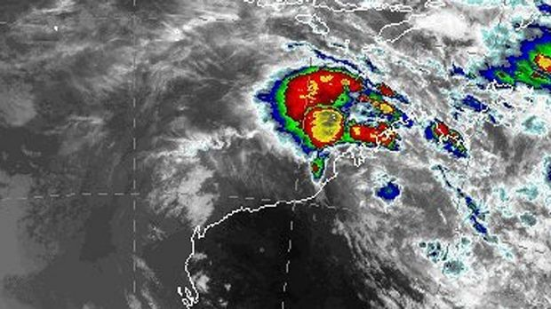 This Bureau of Meteorology map shows the potential cyclone off WA's north coast.